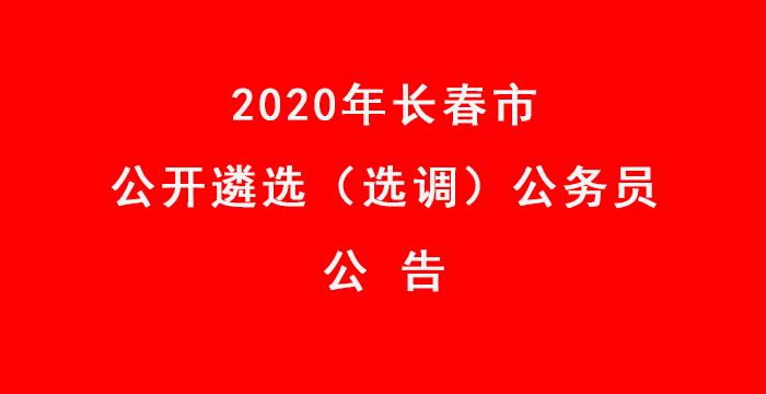 2020年长春市公开遴选(选调)公务员公告